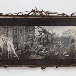 Riv Photo 2,1985, Photographic print with welded steel frame. 27 x 40 x 3 inches