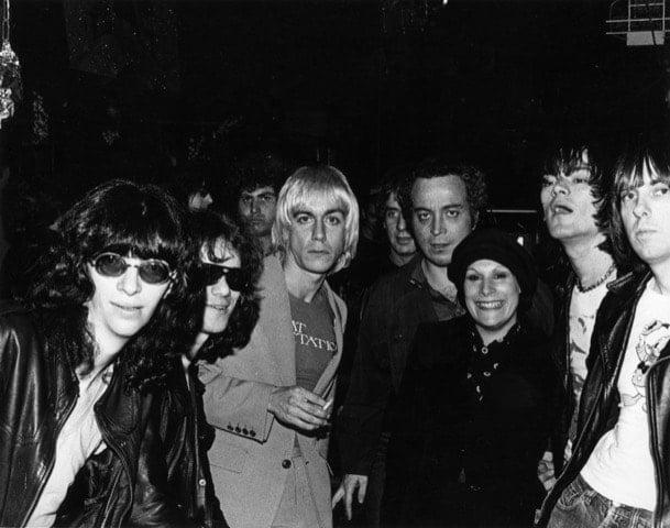 Ramones & Iggy (Photo by Roberta Bayley)