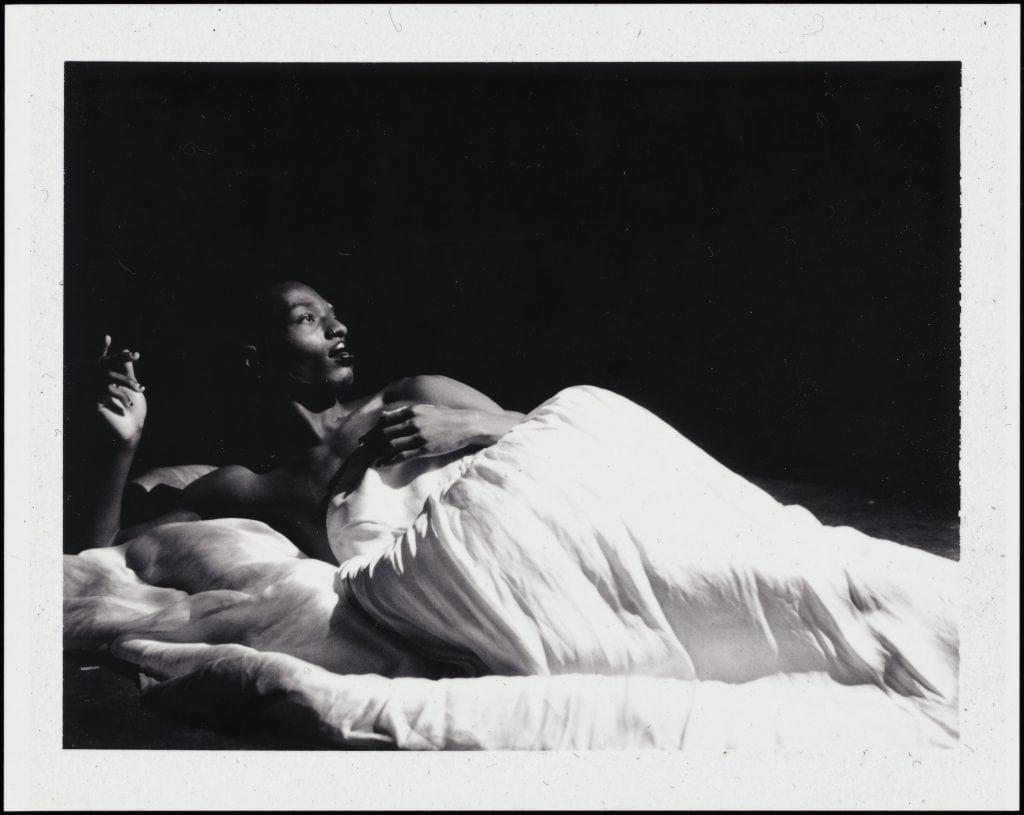 BW Photo of Reclining Figure