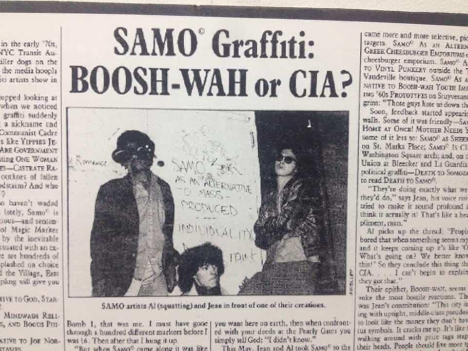 SAMO Village Voice Article