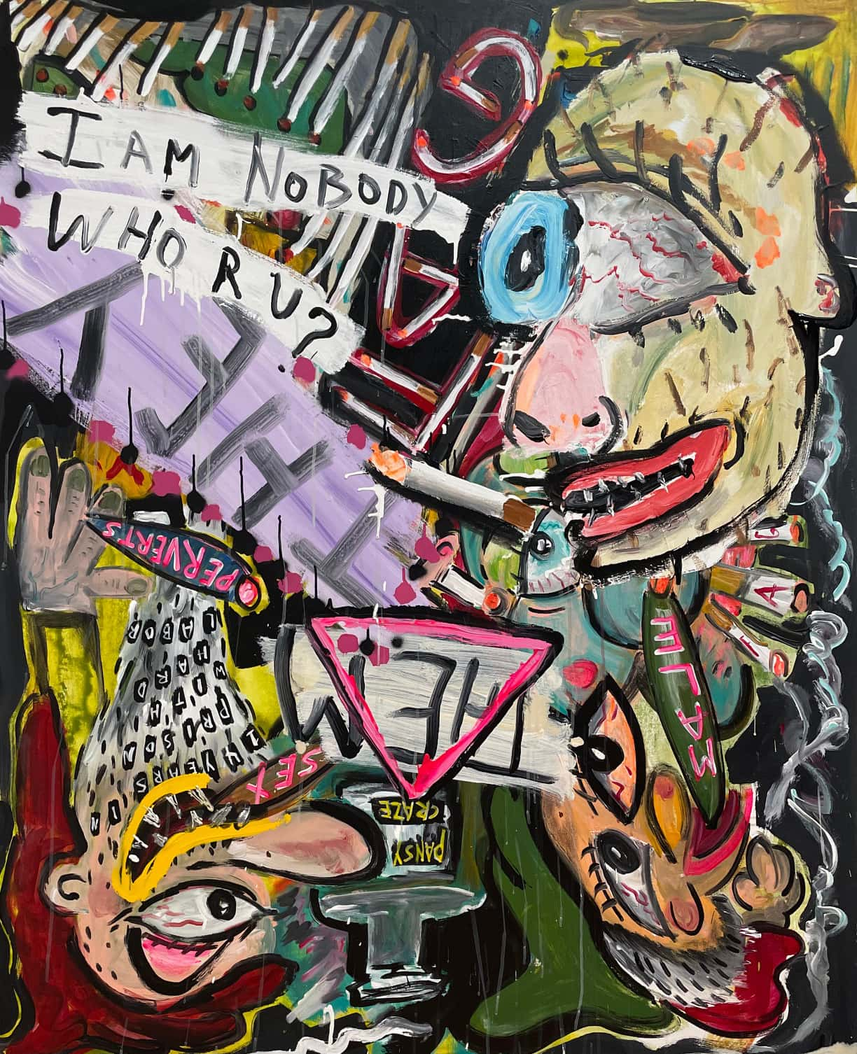 """Scooter LaForge Painting """"I Am Nobody"""""""
