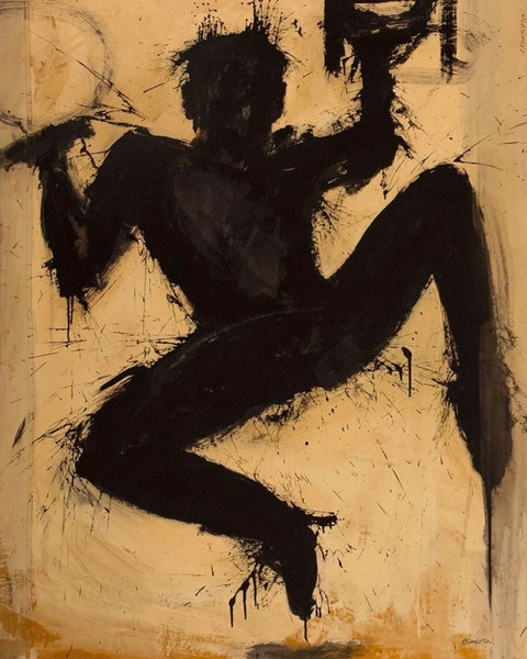 Richard Hambleton Untitled Leaping Shadowman ca 2000v2