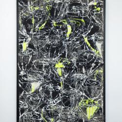 black neon painting