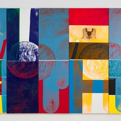 Arturo Vega (1947-2013) Empire, 1989 Acrylic and silkscreen on canvas Five panels 80 x 124 ½
